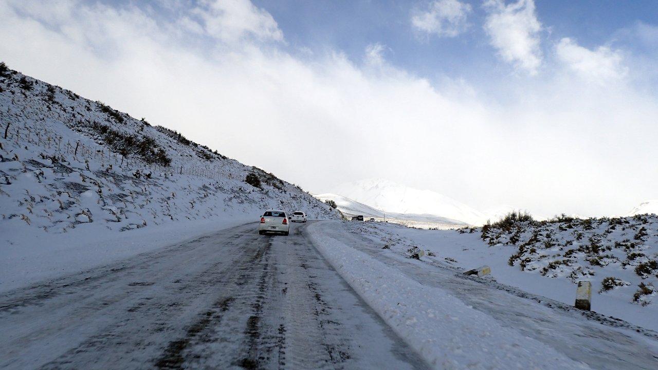 La route pour aller à Las Leñas