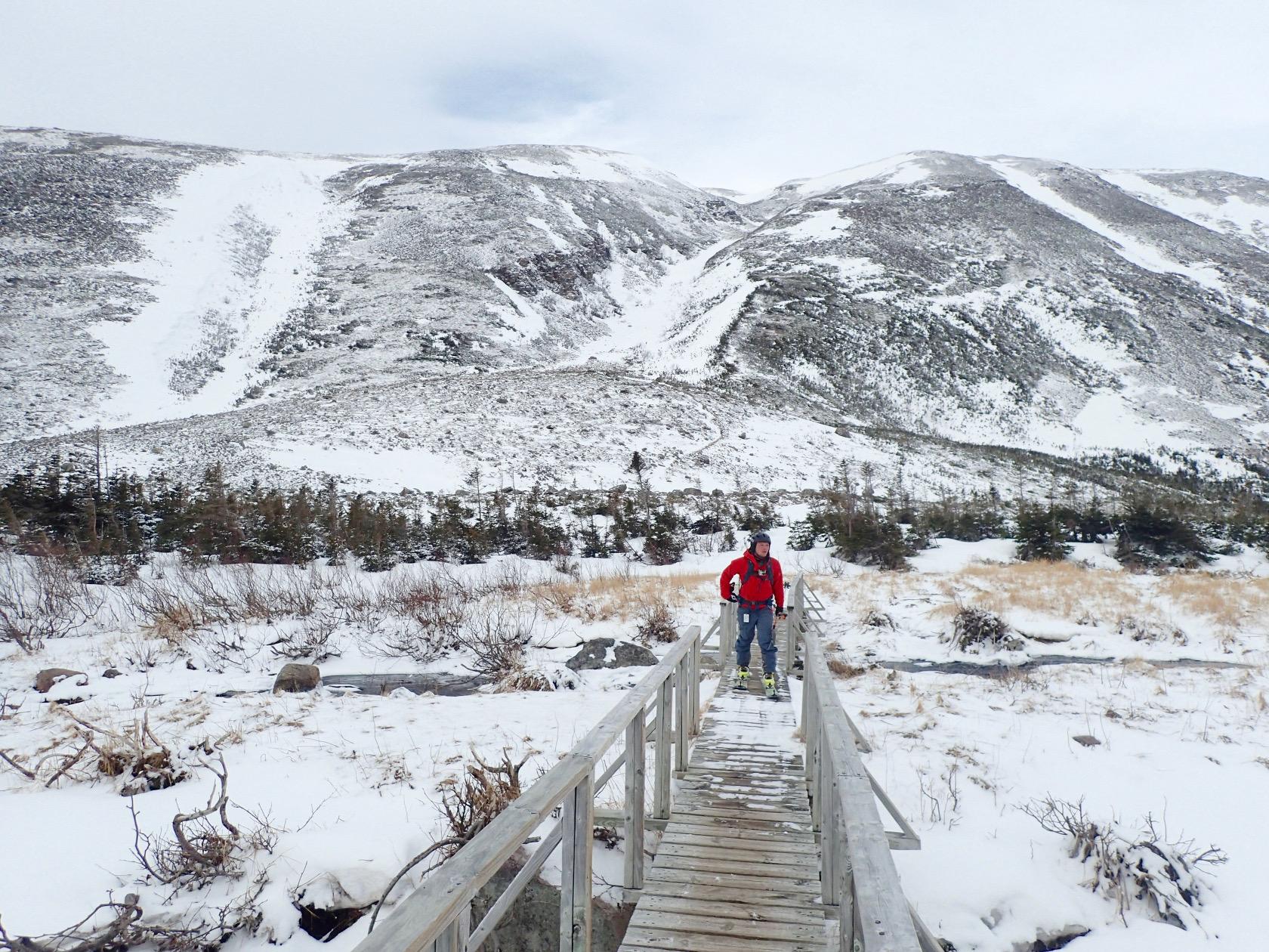 Vue de Gros-Morne l'hiver