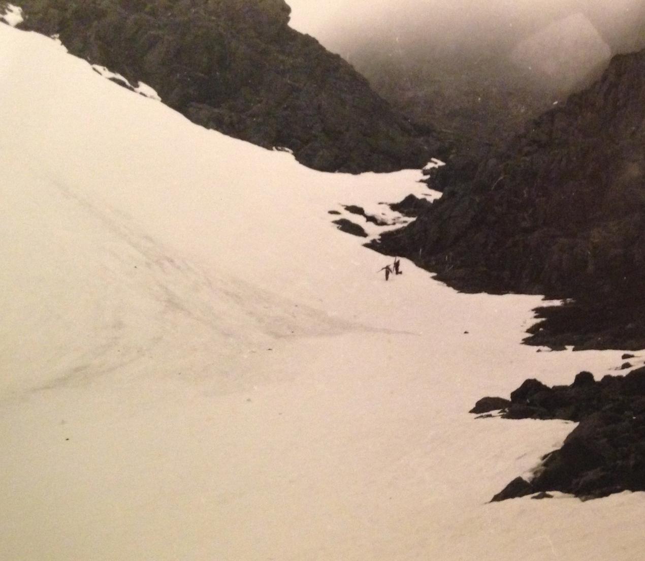 Haut du couloir skié