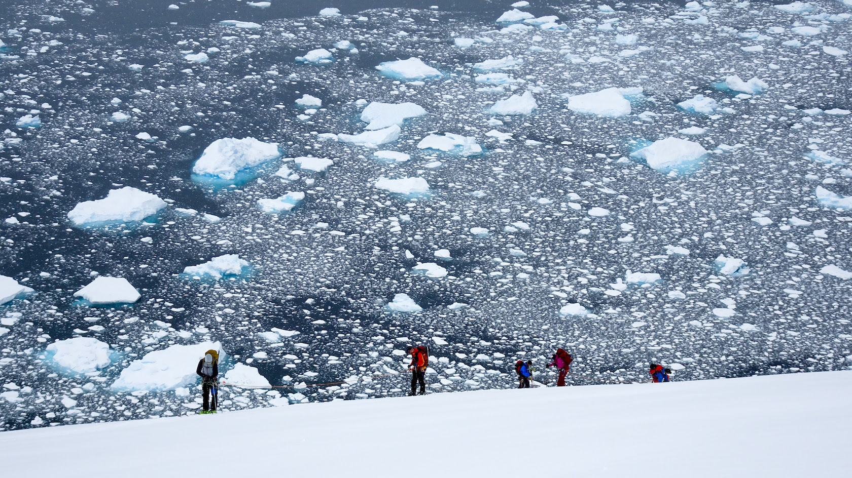 Philippe Gautier guide de ski en Antarctique