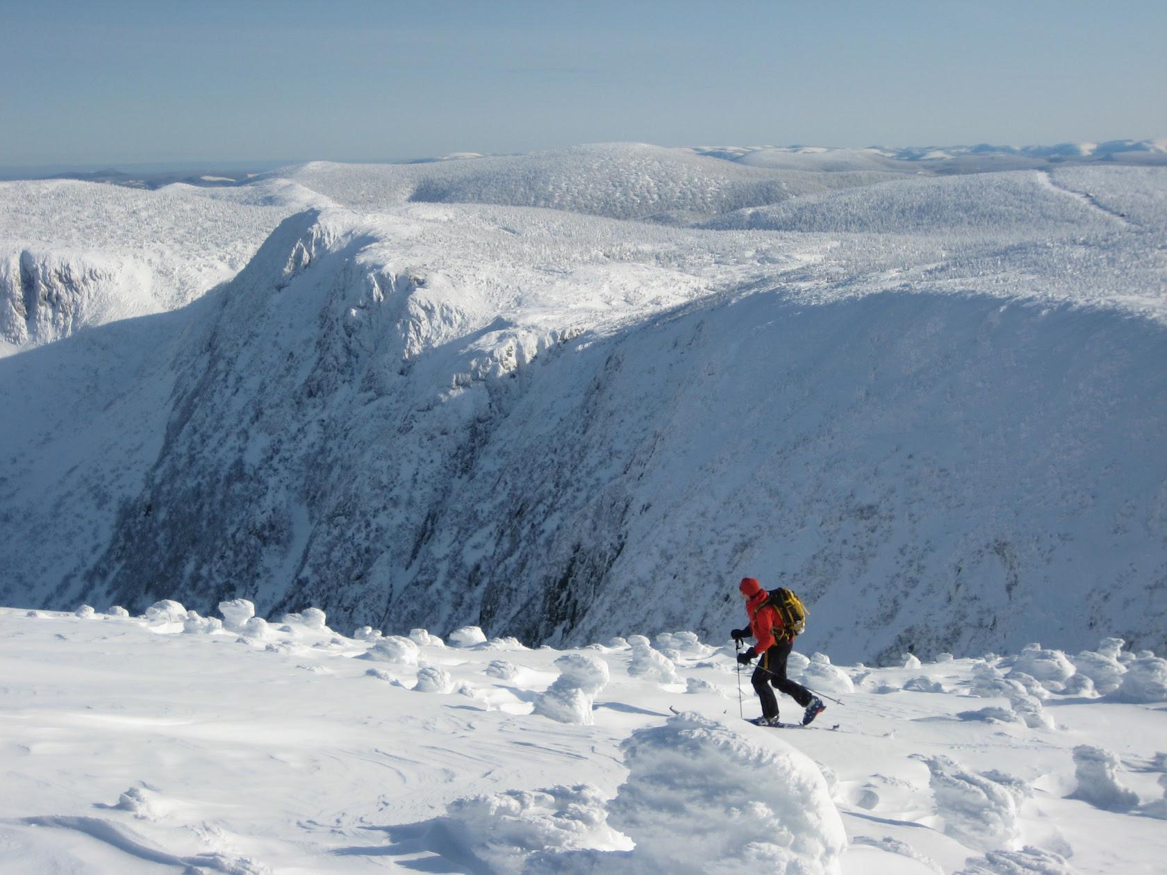 Mont Logan project du livre guide des itinéraires de randonnée Alpine des Chic-Chocs