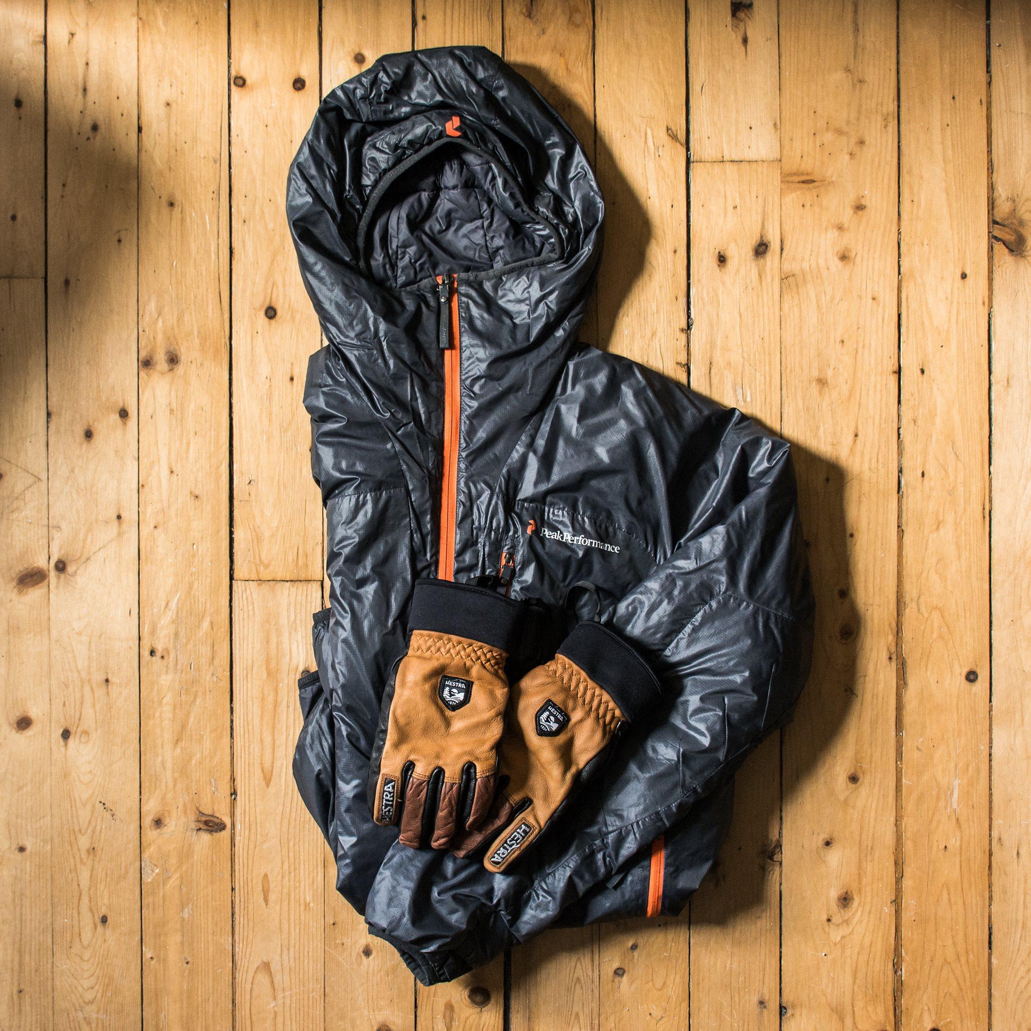 Doudoune et gants