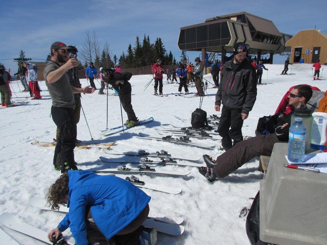 Changement de ski