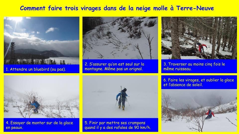 Comment faire trois virages dans de la neige molle è Terre-Neuve