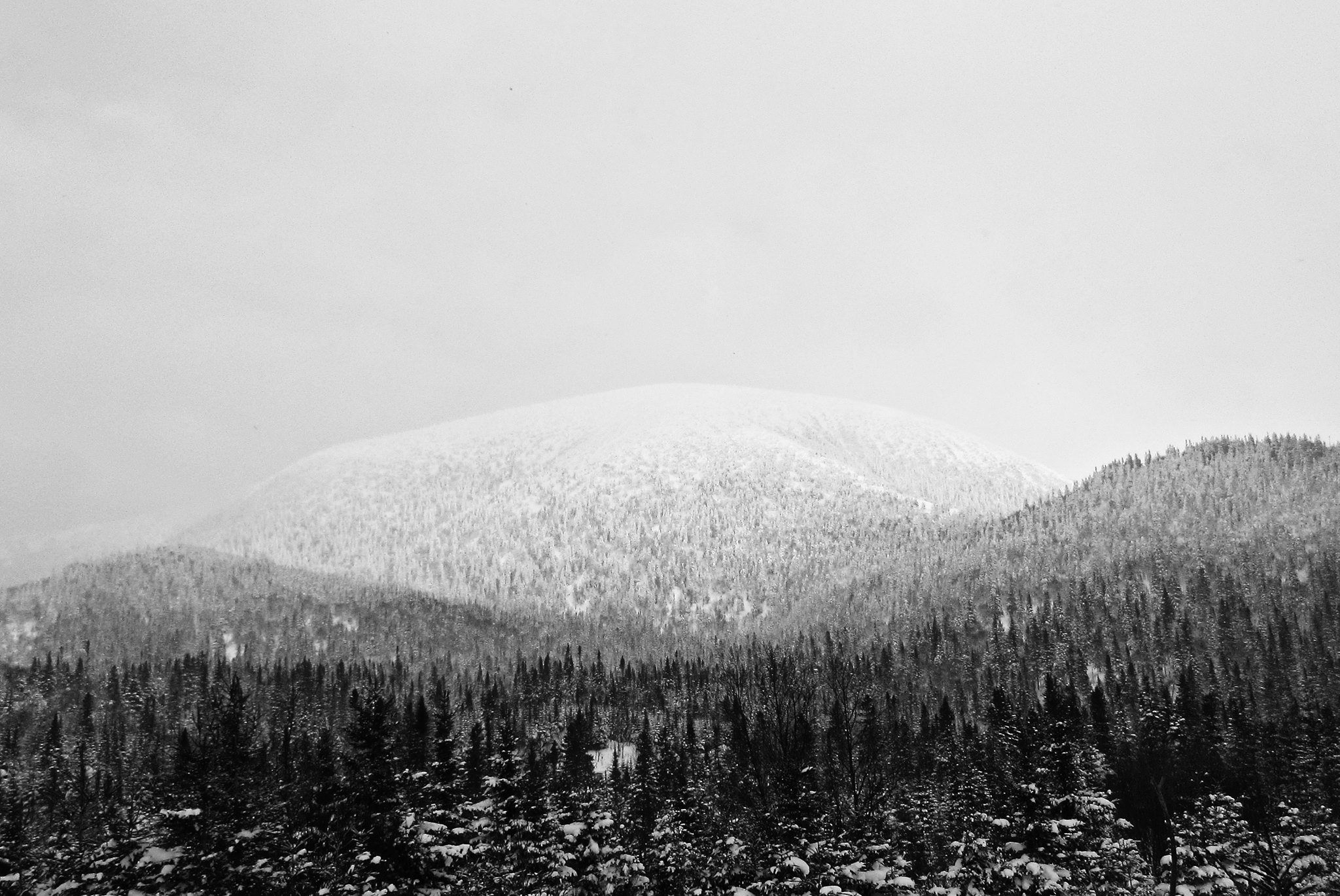 Vu sur le Mont-Blanc au Québec