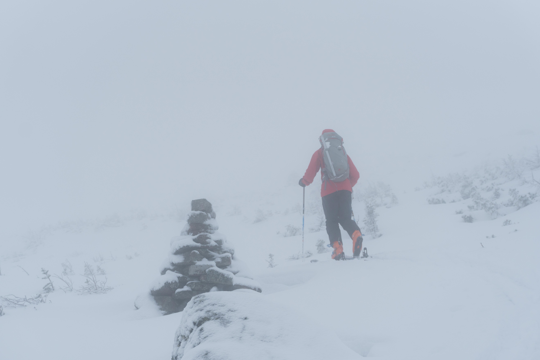 Whiteout en haut du mont Adams