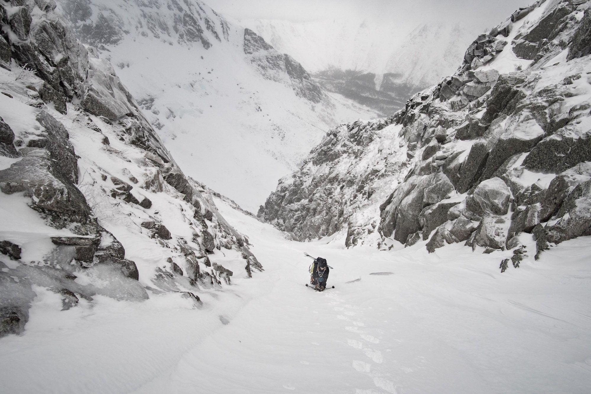 Du beau ski alpinisme à Baxter Park dans l'état du Maine
