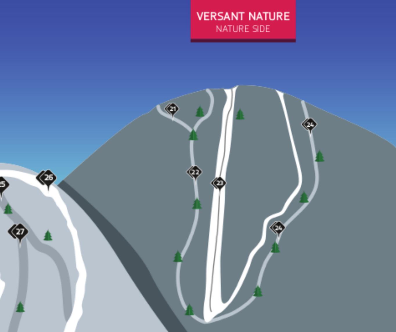 Ski la Réserve extrait de la carte des pistes